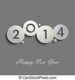Abstract gray New Years wishes vector eps 10
