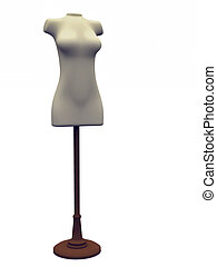 Store mannequin - A female store mannequin isolated over...