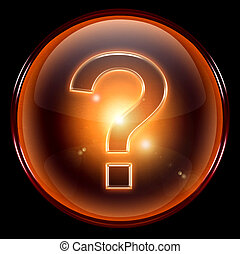 question symbol icon. - question symbol icon, isolated on...