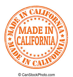 Made in California stamp - Made in California grunge rubber...