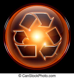 Recycling symbol icon.