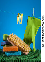 Saturated concept of cleaning - Washing theme