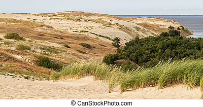 view from the Dune Nagliu, Curonian Spit, Lithuania - view...