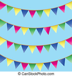 bunting flags - Seamless pattern with colorful bunting flags...