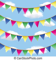bunting flag - Seamless background with bunting flag...