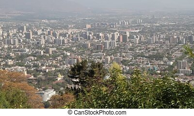 Panorama of Santiago de Chile - View over Santiago de Chile....