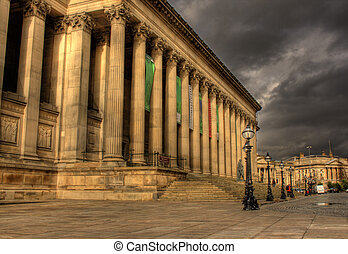 Columns on St Georges Hall, Liverpool HDR