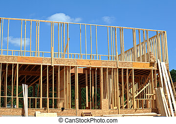 New House Construction - A New House under Construction