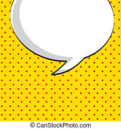 comic icon over dotted background vector illustration