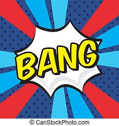 bang comics icon - bang comics icon over grunge background...