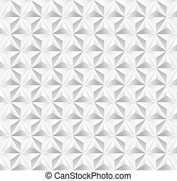 Unusual vintage abstract geometric pattern. - Trendy white...