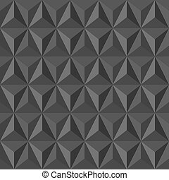 Unusual vintage abstract geometric pattern. - Trendy grey...