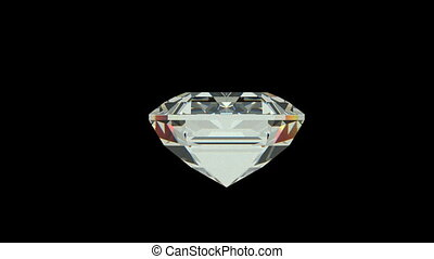 Emerald cut diamond with alpha channel (seamless)