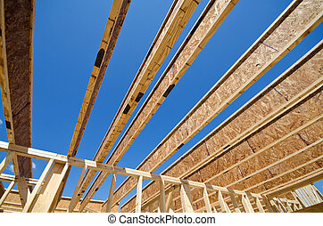 New construction home framing