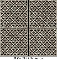 Texture of metal