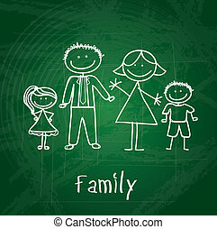 family design over greenboard background vector illustration...