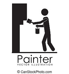 painter design over white background vector illustration