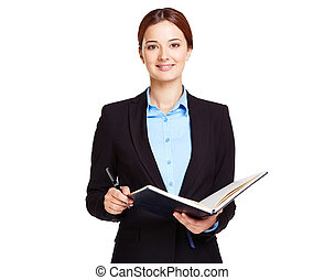 Teacher - Portrait of young businesswoman or a teacher with...