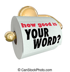 How Good is Your Word Question on Toilet Paper Roll