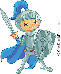 Fighting Brave Knight - Illustration of fighting brave...