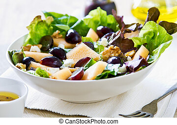 Grape and Cantaloupe salad - Grape and Cantaloupe with Feata...