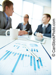 Focus on finance - Vertical shot of a business team being on...