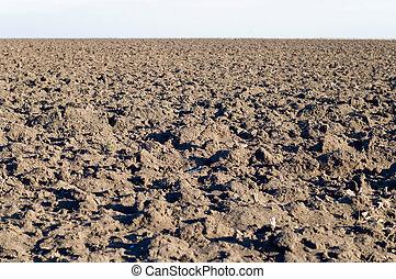 tillage - the fallow field is in autumn