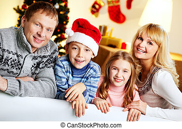 Christmas eve - Portrait of a happy family on a Christmas...