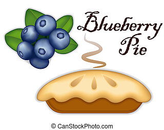 Blueberry Pie - Traditional fresh baked steaming Blueberry...