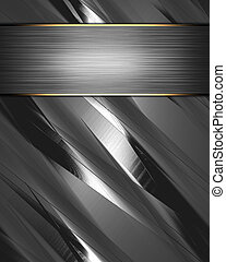 Metal Background with beautiful metal nameplate. - The...