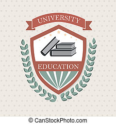 university label over dotted background vector illustration...