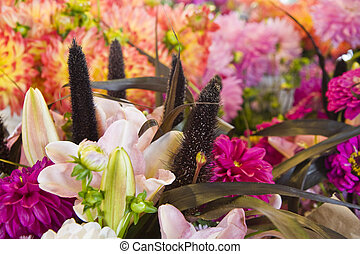 Fresh Flowers and Lillies - A beautiful spring bouquet of...