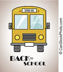 back to school bus - back to school design over gray...