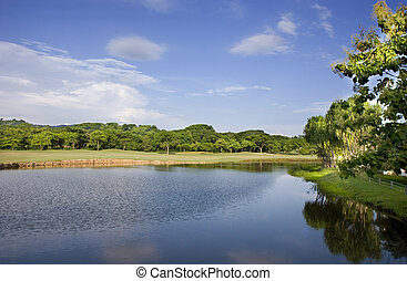 Lake in Golf Course