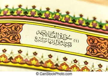Quran Closeup - Quran closeup on calligraphy