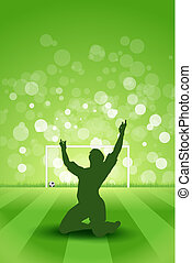 Soccer Background with Grass and with Player