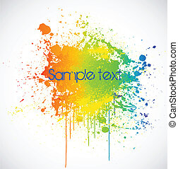 Color paint splashes. Vector background - Illustration of...