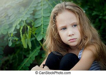 肖像画, 悲しい, 子供