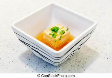Japanese food in white cup