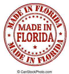 Made in Florida stamp - Made in Florida grunge rubber stamp,...