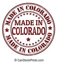 Made in Colorado stamp - Made in Colorado grunge rubber...