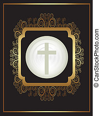 Religious design - religious design over black background...