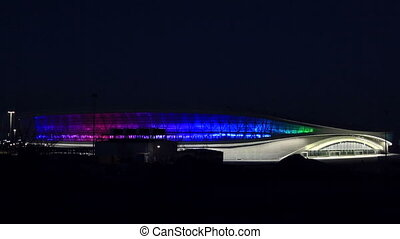 "Olympic stadium ""Adler-Arena"" - Night illumination of the..."