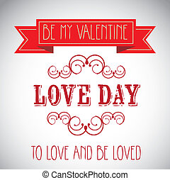 Love day Poster - love day Poster over gray background...