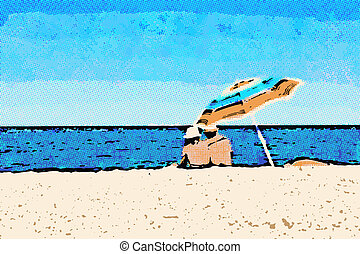 Summer Fun - This image is a vector file representing a...