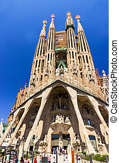 La Sagrada Familia in Barcelona, Spain - SPAIN - AUGUST 03:...