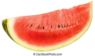 Slice of ripe juicy watermelon