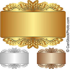 backgrounds - gold, silver and brown background with...