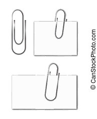 Paper clips isolated