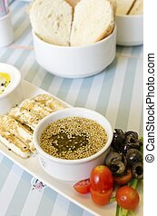Lebanese breakfast - A very healthy Lebanese breakfast with...